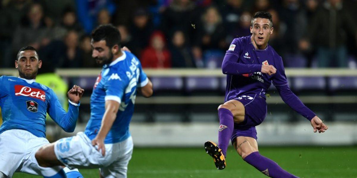 El Mati Fernández fue protagonista del empate entre la Fiorentina y el Napoli