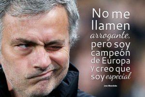 """7. Con esta frase, Mourinho se presentó en Chelsea en 2004, tras ganar la Champions League al mando del Porto. Gracias a ello fue bautizado por la prensa inglesa como """"The Special One"""" (El especial). Foto:Getty Images. Imagen Por:"""