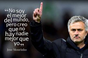2. Con este juego de palabras en 2012, Mourinho dejó en claro que la autoconfianza estaba al tope. Foto:Getty Images. Imagen Por: