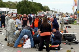 Dejó tres personas muertas y otras 22 heridas. Foto:AP. Imagen Por: