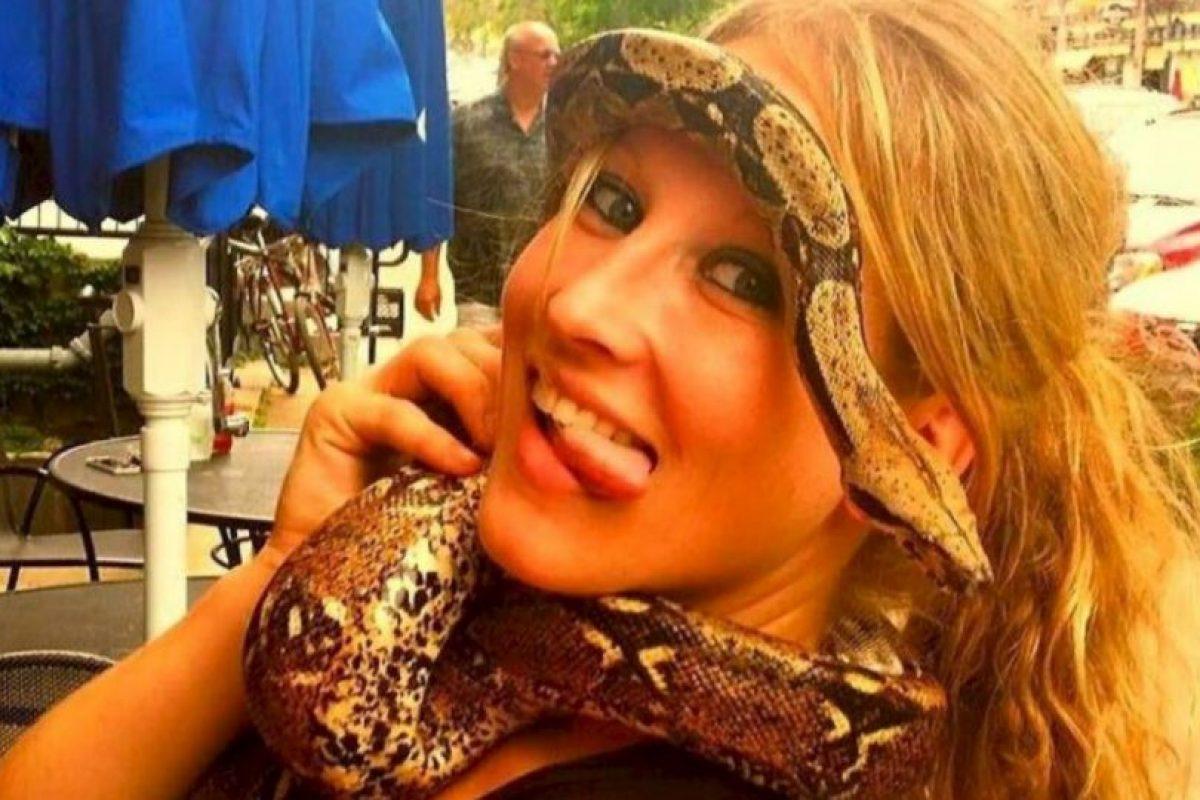 Jacqueline Eide, de 33 años, fue mordida por un tigre el Halloween del año pasado. Foto:ía Facebook. Imagen Por: