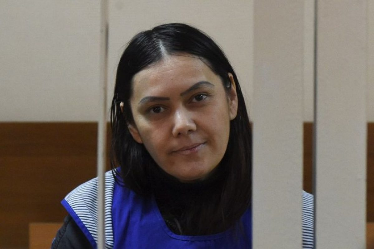 La mujer apareció en la Corte de Distrito de Presesnky, en Moscú, Rusia Foto:AFP. Imagen Por: