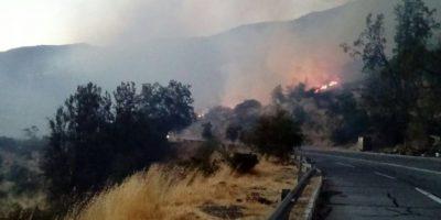 Talagante: Ampliaron Alerta Roja por incendios forestales