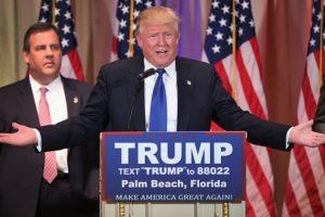 """""""Sí, haremos grande a América de nuevo"""". Foto:vía Getty Images. Imagen Por:"""