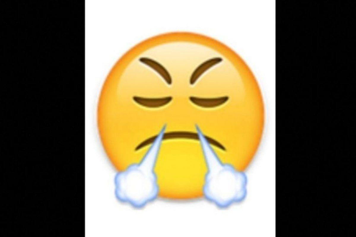 9. Utilizada comunmente para expresar enfado o frustración, en realidad es un rostro con mirada de triunfo Foto:vía emojipedia.org. Imagen Por: