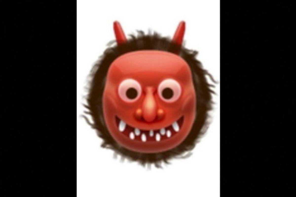 8. También usado para representar al demonio, aunque en verdad es un ogro japonés. Foto:vía emojipedia.org. Imagen Por: