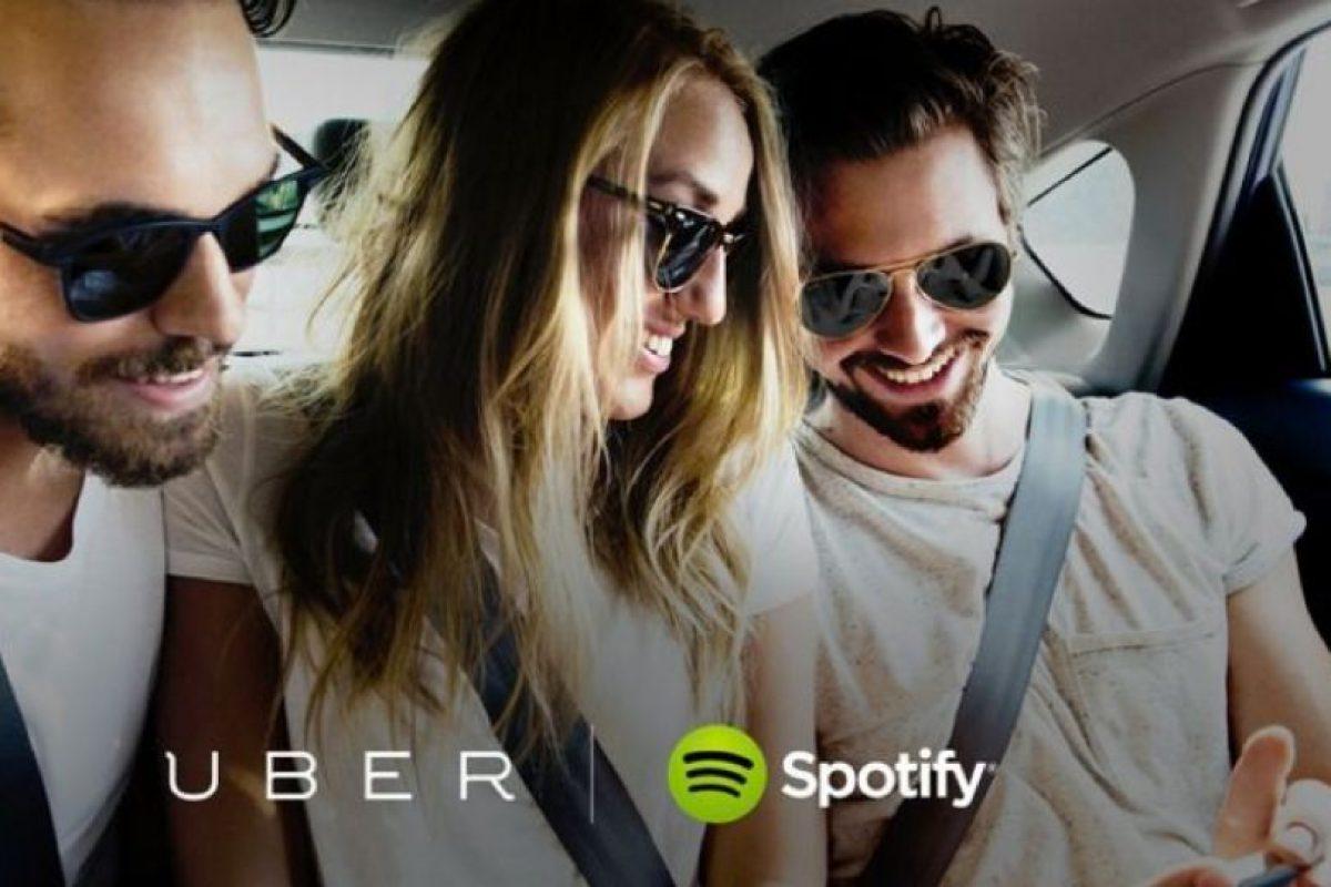 Ahora pueden disfrutar de sus listas de reproducción en Uber Foto:Spotify. Imagen Por: