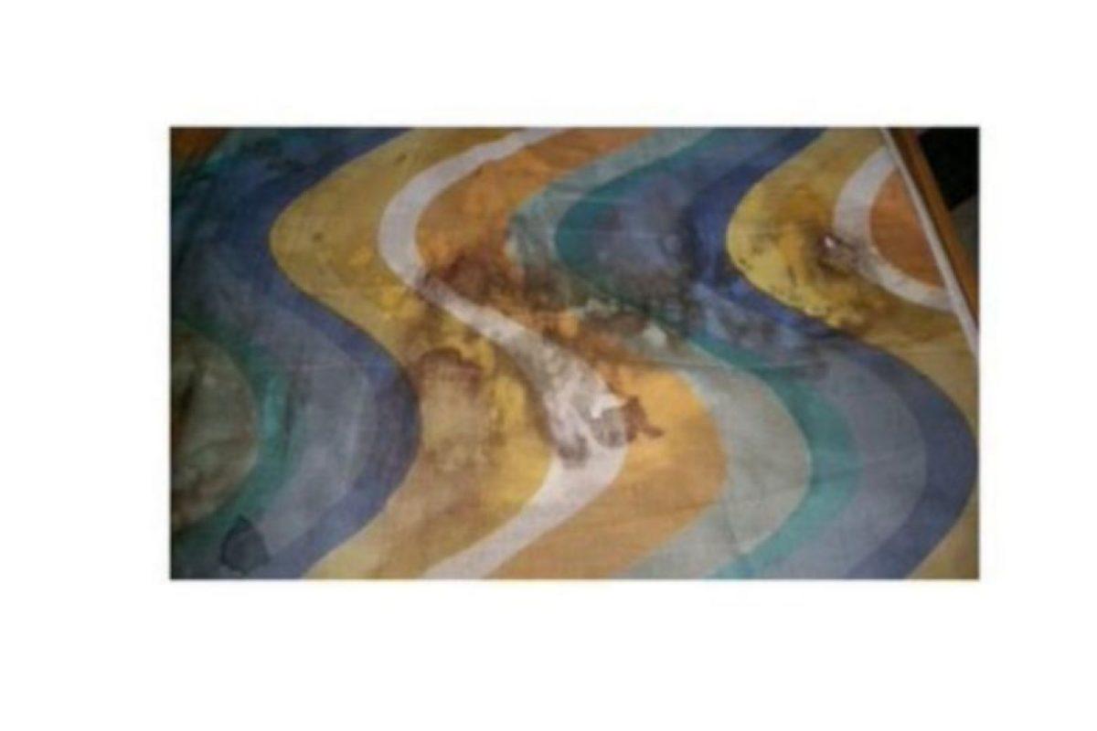Detalles del colchón donde supuestamente una de las mujeres fue asesinada Foto:Twitter.com/ppsesa. Imagen Por: