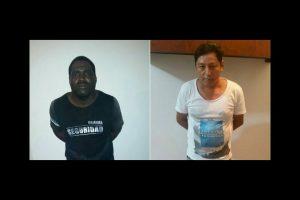 De acuerdo con una foto publicada en el Twitter del ministro del Interior de Ecuador, José Serrano Salgado, ellos son los presuntos asesinos. Foto:Twitter.com/ppsesa. Imagen Por: