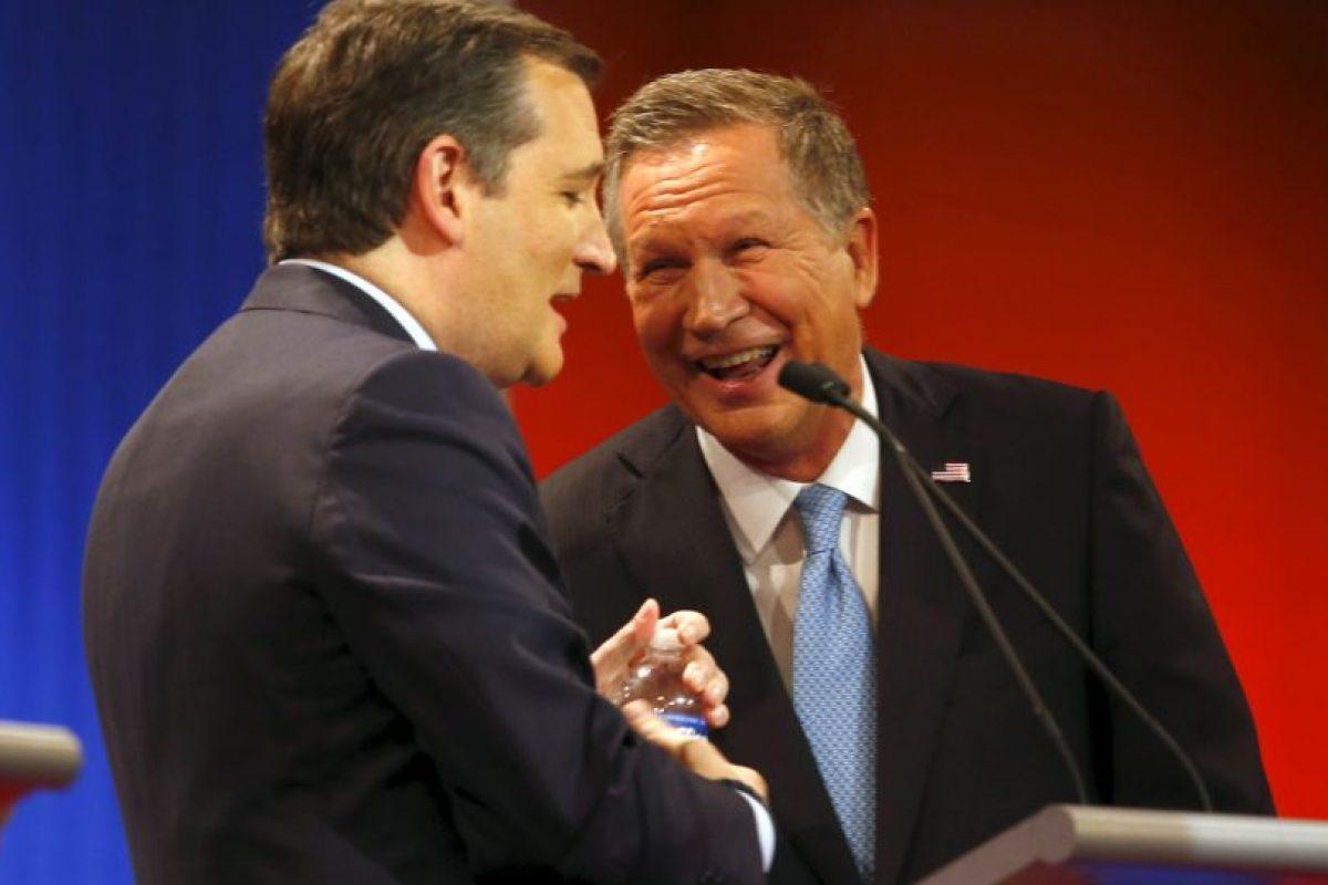 """John Kasich: """"Yo estuve ahi cuando Ronald Reagan reconstruyó la economía. Yo trabajé con él"""" Foto:AP. Imagen Por:"""