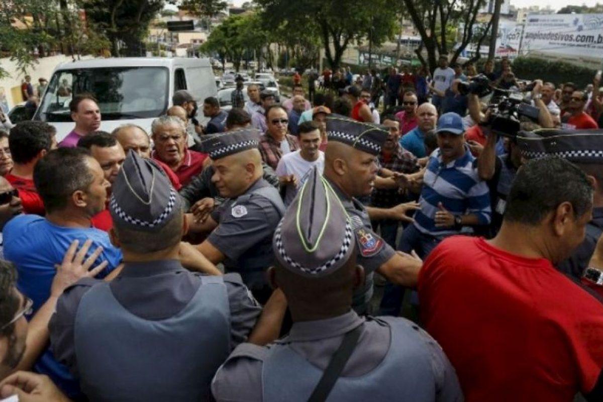 Hubo algunos enfrentamientos Foto:AP. Imagen Por: