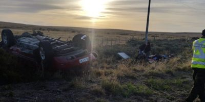 Volcamiento de automóvil en Punta Arenas deja tres muertos
