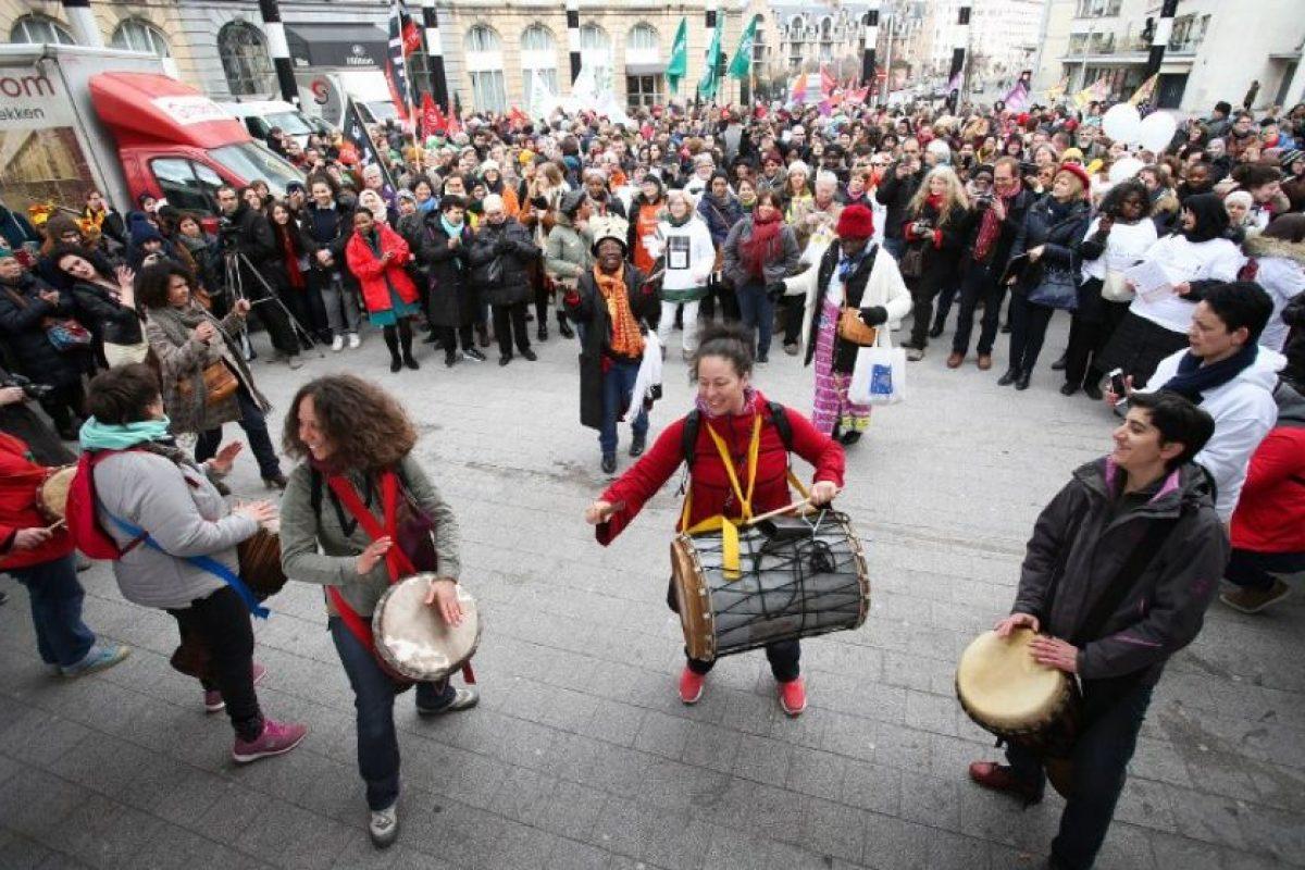 En las demostraciones, se apoyó a las mujeres latinoamericanas Foto:AFP. Imagen Por: