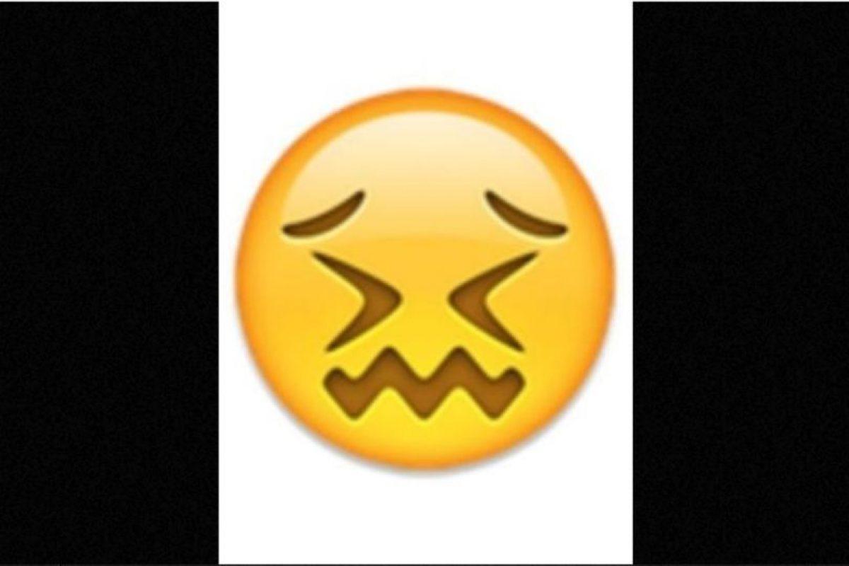 Parece que está a punto de llorar, pero solamente está aturdido. Foto: emojipedia.org. Imagen Por: