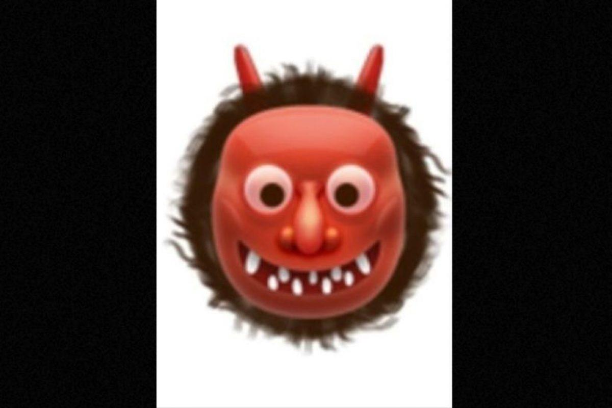 También usado para representar al demonio, aunque en verdad es un ogro japonés. Foto: emojipedia.org. Imagen Por:
