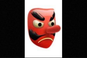 Es utilizado como el diablo, aunque solamente es una máscara japonesa de un duende Foto: emojipedia.org. Imagen Por: