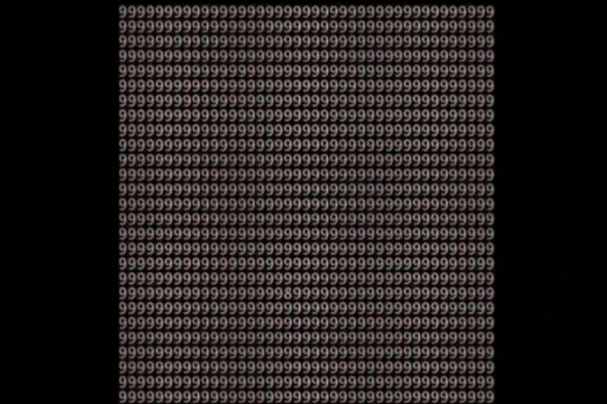 ¿Pueden encontrar el número 8 en menos de un minuto? Foto:Vía Twitter.com. Imagen Por: