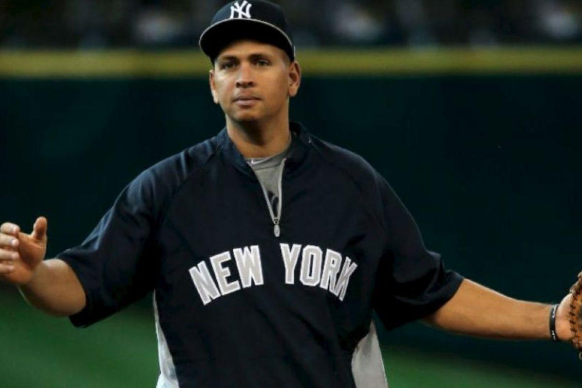 Alex Rodriguez. El dominicano fue suspendido por 162 partidos, ya que la MLB lo encontró implicado en un caso de dopaje Foto:Getty Images. Imagen Por: