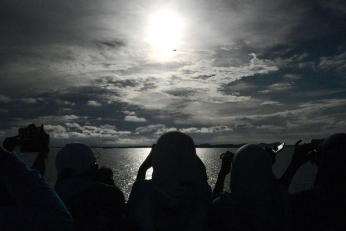 Algunos testigos apreciaron cambios de temperatura. Foto:AFP. Imagen Por: