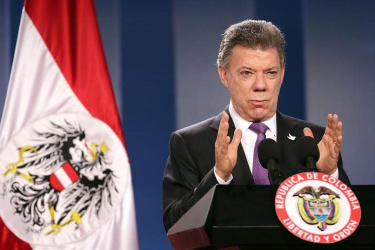 El presidente colombiano Juan Manuel Santos, en su visita a Austria de principios de marzo. Foto:Efe. Imagen Por: