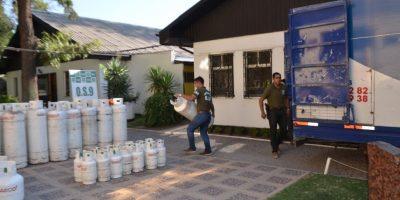 Más de 200 cilindros de gas y un camión repartidor repleto recuperó Carabineros
