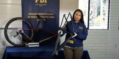 PDI logró recuperar valiosa bicicleta robada a campeona de mountainbike