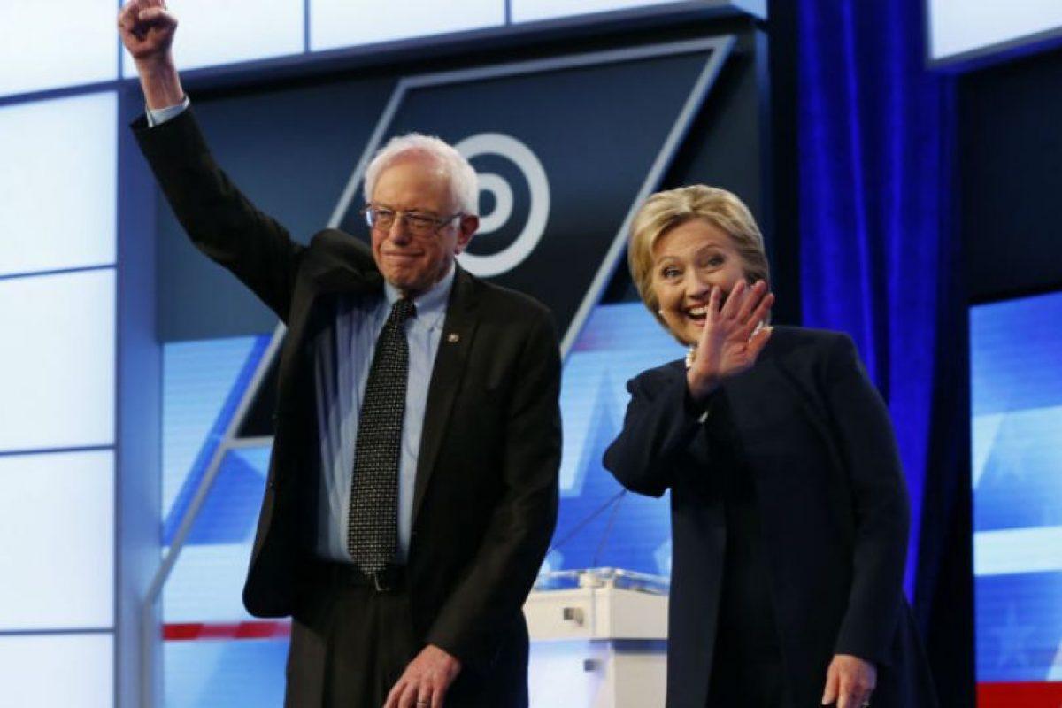 Hillary Clinton y Bernie Sanders son los únicos miembros del partido que buscan llegar hasta la Casa Blanca Foto:AP. Imagen Por: