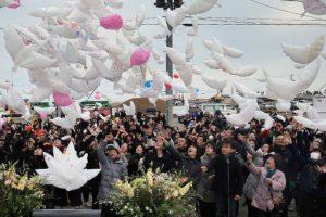 Así se recordó a las víctimas en Japón Foto:AFP. Imagen Por: