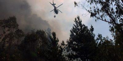Onemi declara alerta roja por incendio forestal en Valparaíso