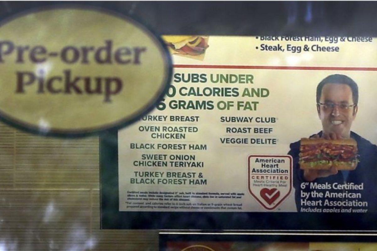 """Vocero estrella de """"Subway"""" acepta ser pederasta Foto:Getty Images. Imagen Por:"""
