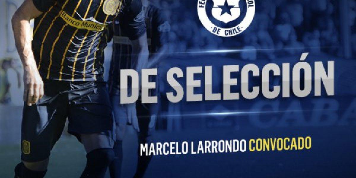 Marcelo Larrondo celebra su primera nominación a La Roja: