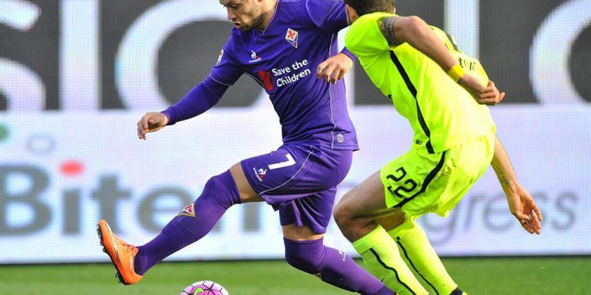 No supo ganar: Fiorentina con Mati Fernández empató con el último de la Serie A