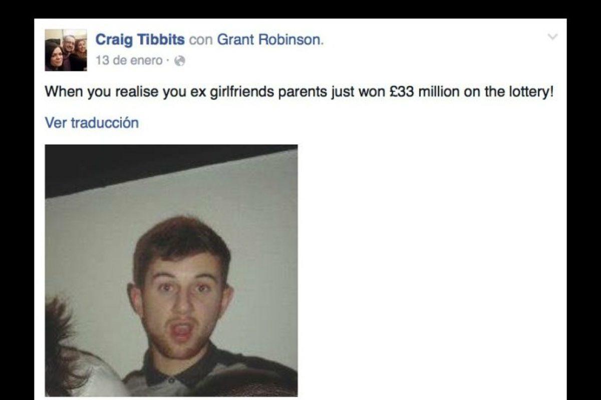 """Grant Robinson, fue llamado el """"exnovio más desafortunado"""" en Gran Bretaña Foto:Vía facebook.com/craig.tibbits. Imagen Por:"""