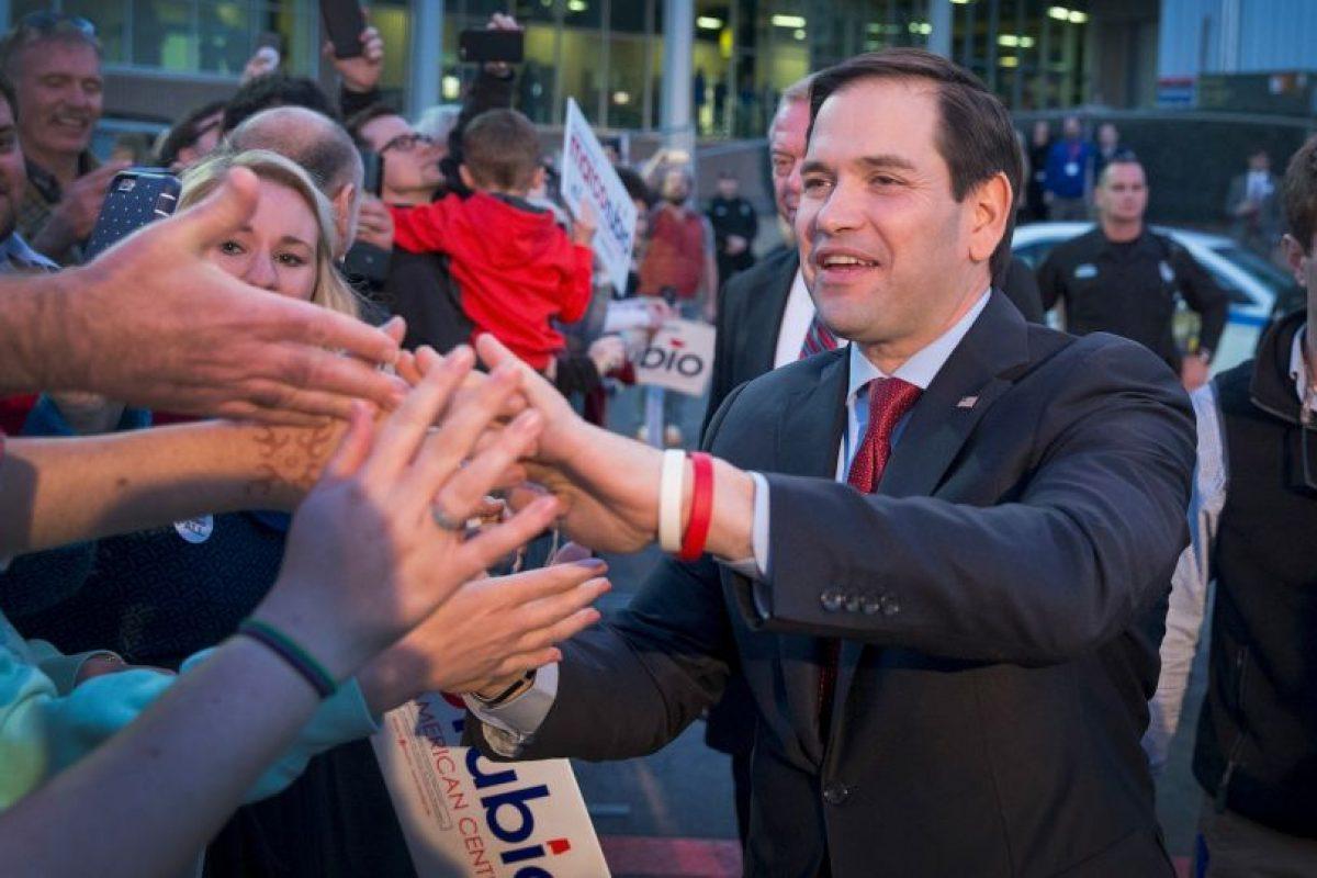 Durante esta últimas semanas Marco Rubio ha intentado detener el avance de Trump con muy poco éxito. Foto:Getty Images. Imagen Por: