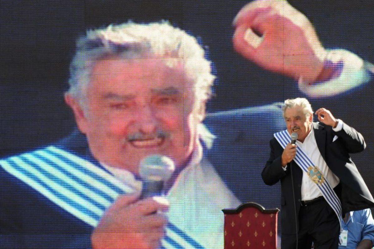 Durante su primer discurso como presidente de Uruguay Foto:Efe. Imagen Por: