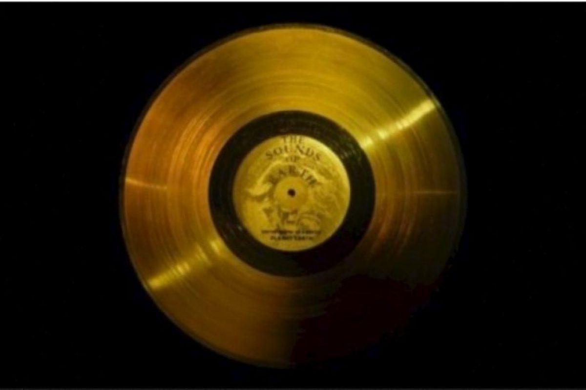 4. El disco de oro de las Voyager Foto:Wikimedia.org. Imagen Por:
