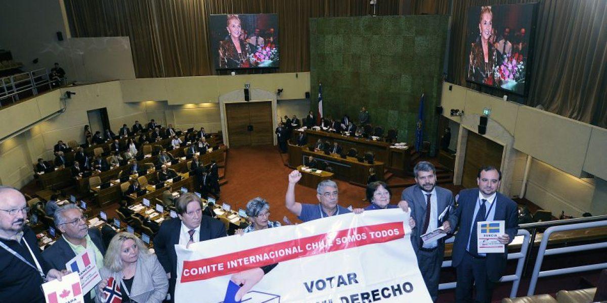 Cámara de Diputados aprueba casi por unanimidad voto de chilenos en el exterior