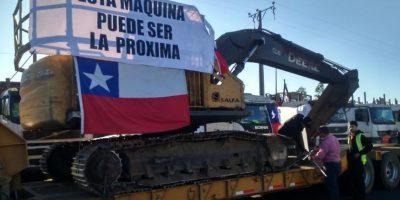 Camioneros protestan en carreteras en rechazo a hechos de violencia en Arauco
