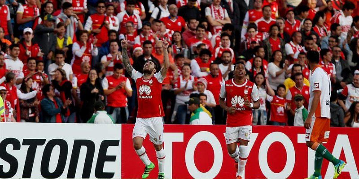 Cobresal quedó eliminado en la Libertadores al caer ante Santa Fe