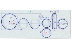 Hace seis años, así festejó Google el día Pi. Foto:google.com/doodles/pi-day. Imagen Por: