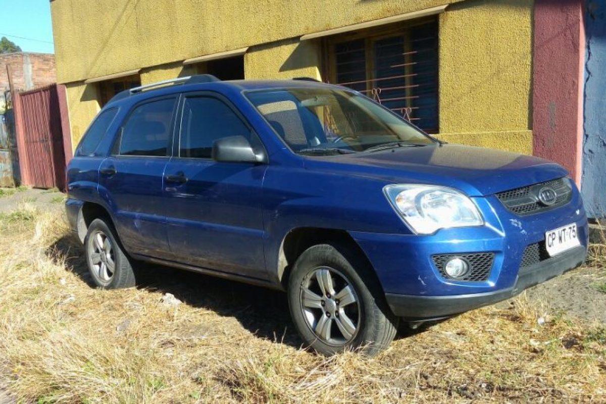 El vehículo robado en Las Condes. Foto:Gentileza. Imagen Por: