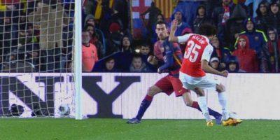 ¡Al ángulo! El golazo del egipcio Elneny ante Barcelona