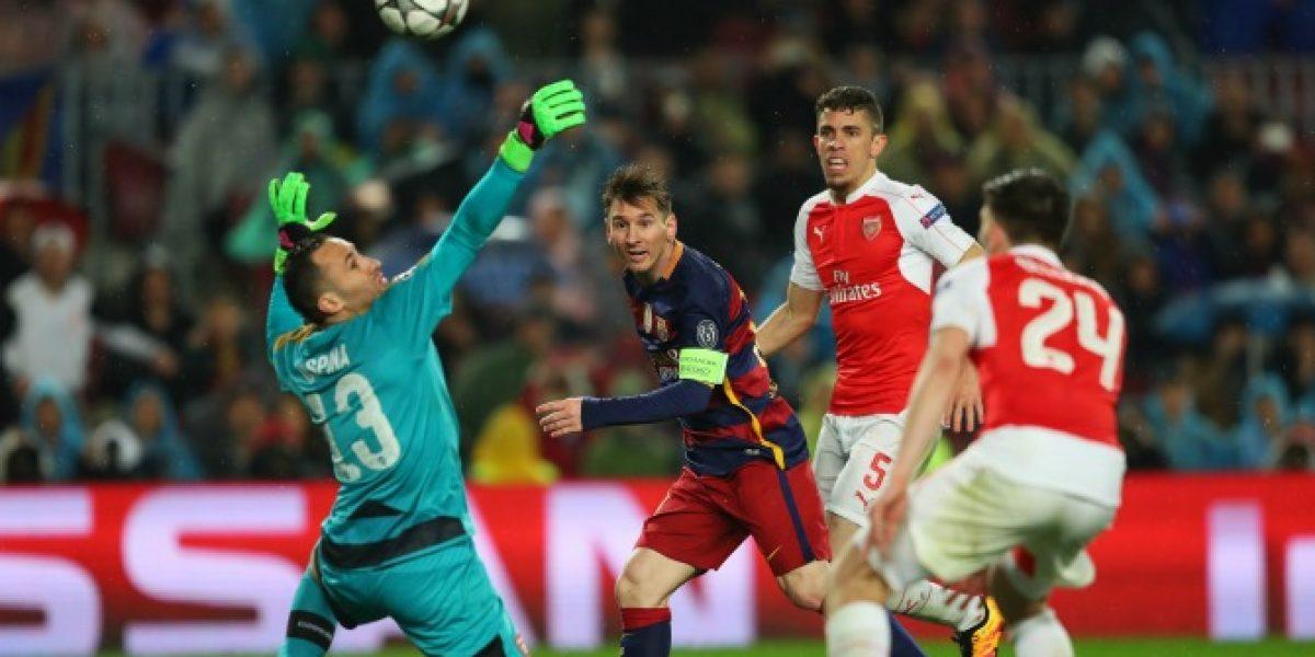 De acrobacia, picotón y derechazo: Los golazos del Barcelona-Arsenal en Champions