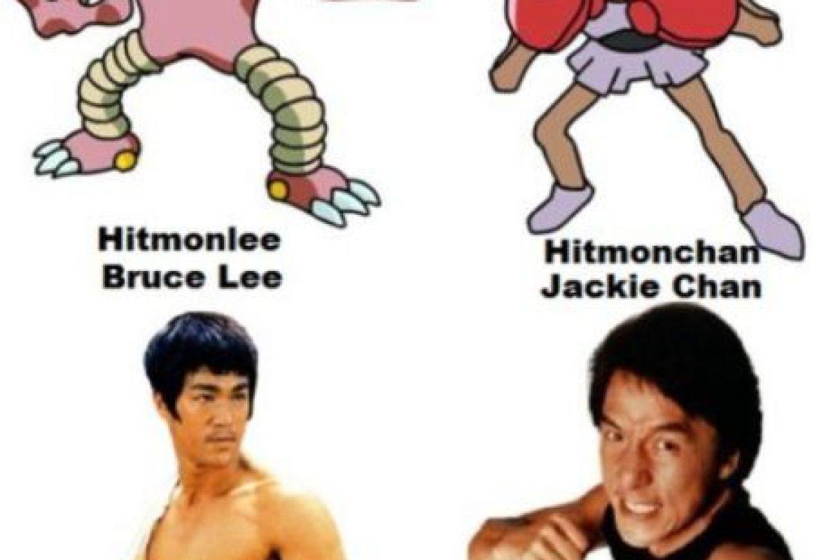 """Los Pokémon """"Hitmonchan"""" y """"Hitmonlee"""" están inspirados en Jackie Chan y Bruce Lee. Foto:Twitter. Imagen Por:"""