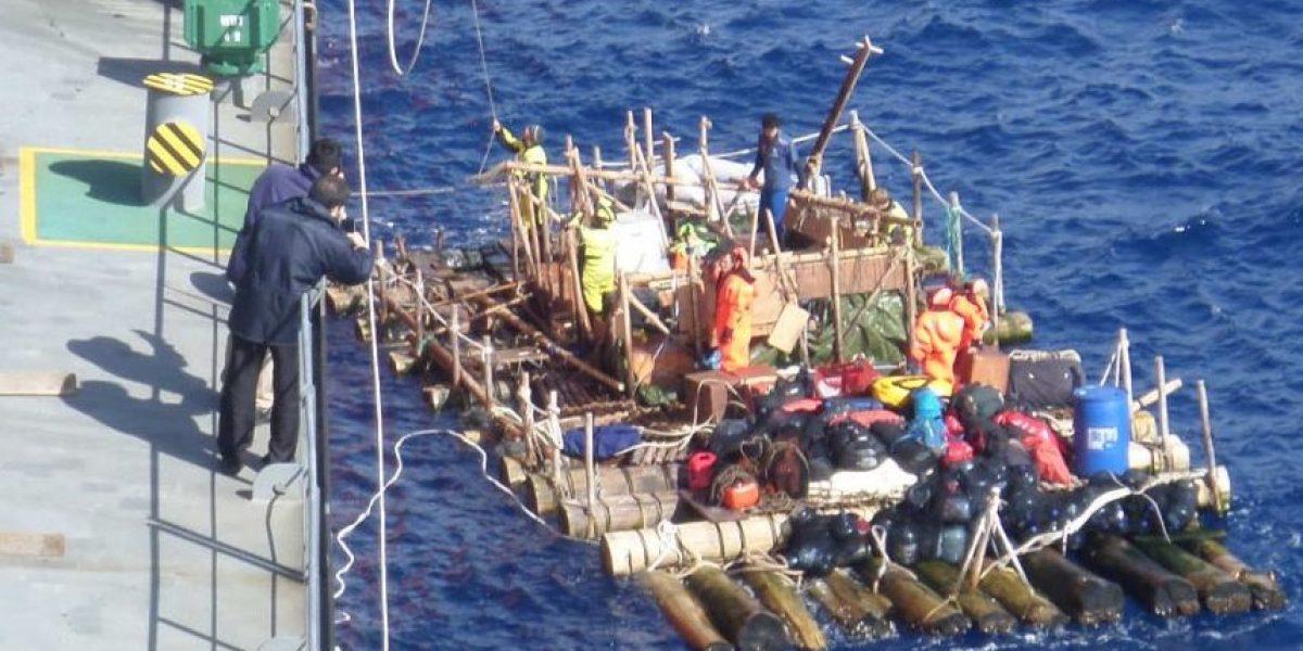 Armada de Chile coordinó rescate de la expedición científica Kon-Tiki2