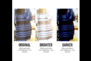 Una fue el famoso vestido. ¿La explicación? Todo dependía del brillo de la foto Foto:Twitter.com – Archivo. Imagen Por: