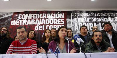 Confederación de Trabajadores del Cobre se suma a paro de la CUT del 22 de marzo