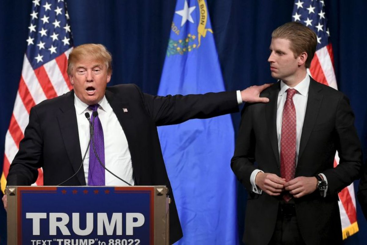 Eric Trump recibió una carta con amenazas hacia su padre Foto:Getty Images. Imagen Por:
