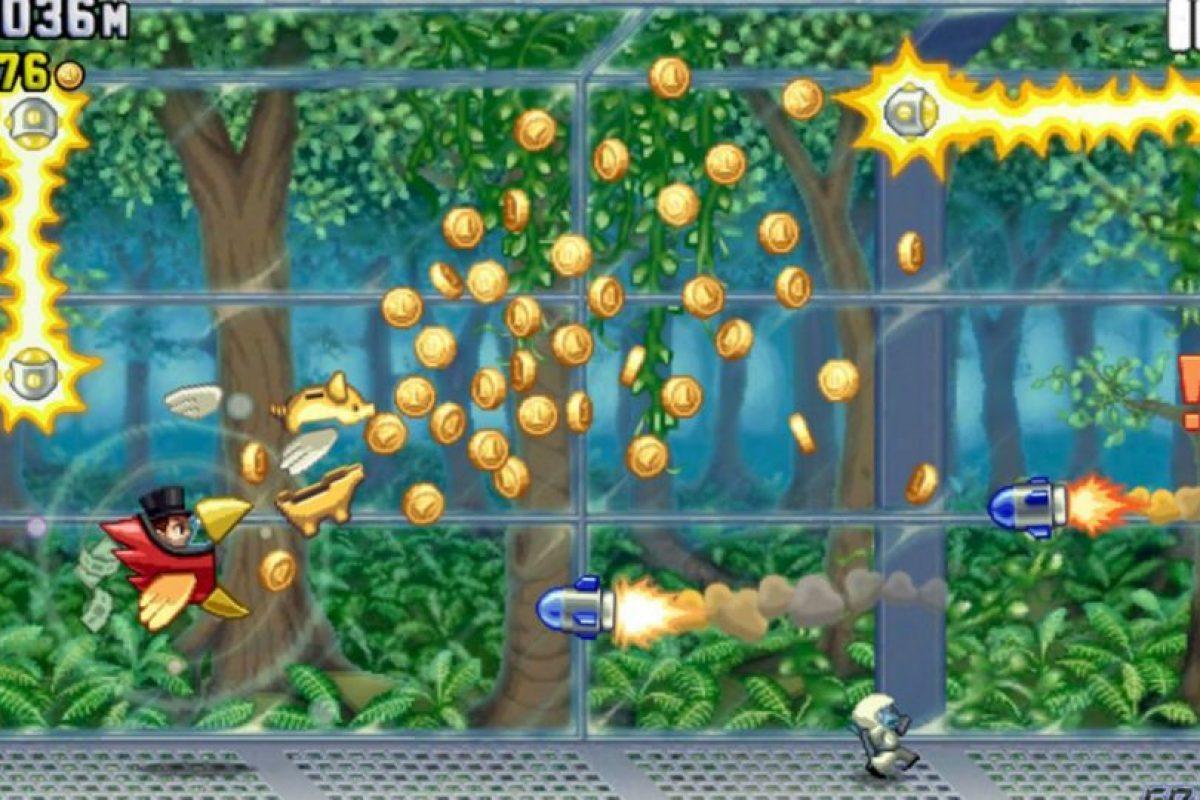 Jetpack Joyride es un videojuego de scroll horizontal creado por Halfbrick Studios Foto:Halfbrick Studios. Imagen Por: