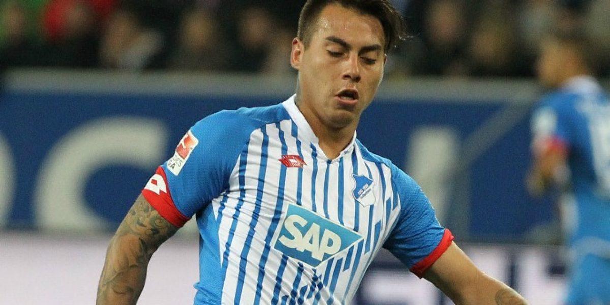 Volvió al gol: Eduardo Vargas anotó un golazo en victoria del Hoffenheim
